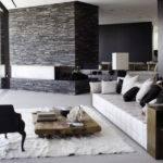 Black White Modern Living Room Decorating Ideas