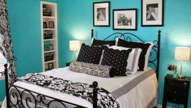 Blue Pattern Teenage Girl Bedroom Ideas Wall Color