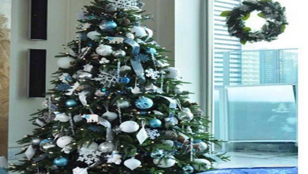 Blue Purple Christmas Tree Decorating Ideas