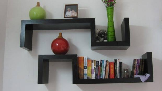 Bookshelves Hang Wall