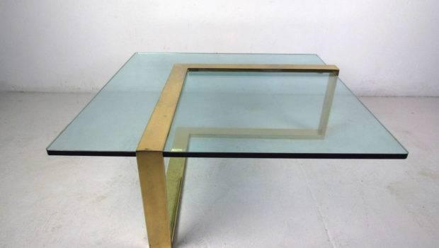 Brass Shape Coffee Table Glass Top Stdibs