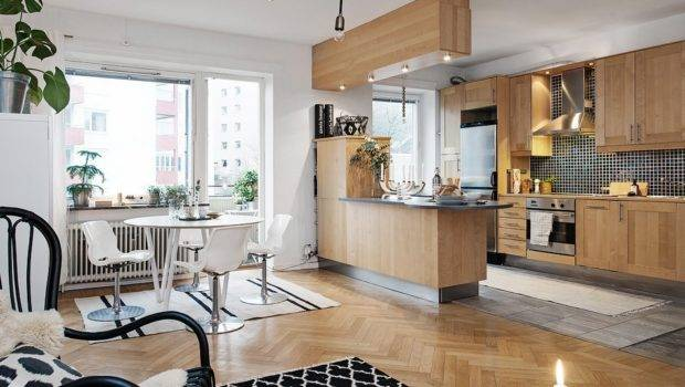 Bright Two Room Apartment Sweden Has Modern Layout