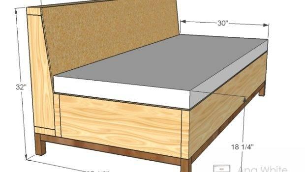 Build Storage Sofa Easy Diy Project Furniture Plans