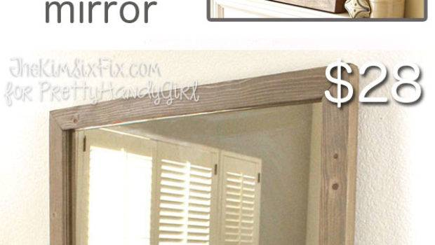 Build West Elm Inspired Wooden Framed Mirror