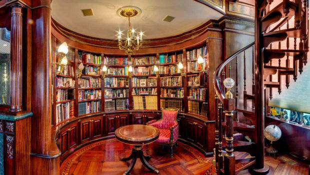 Building Custom Home Library Scott Hall Remodeling