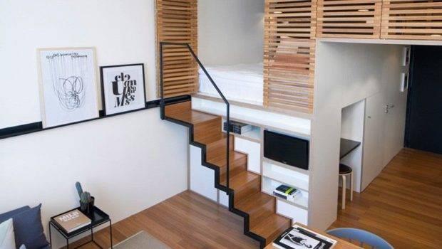 Built Office Ideas Small Loft Home Design
