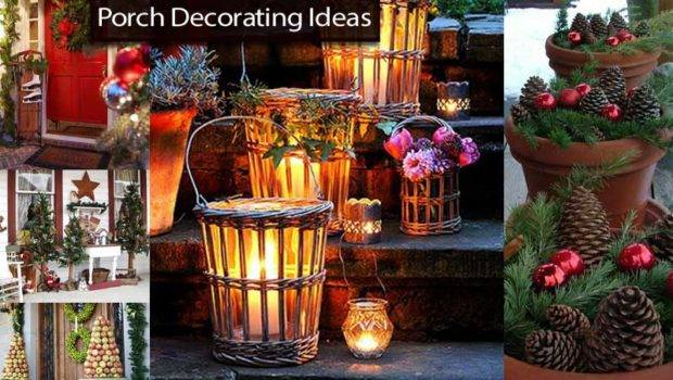 Bunch Christmas Porch Decorating Ideas
