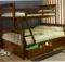 Bunk Bed Desk Solid Wood Kids Beds White Twin