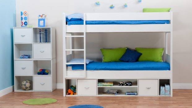 Bunk Bed Small Room Built Storage Underneath Modern