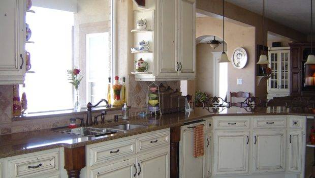 Cabinet Country White Kitchen Cabinets Antique
