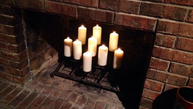 Candles Fireplace Living Room Pinterest