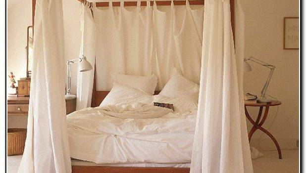 Canopy Bed Curtains Lights Beds Home Design Ideas