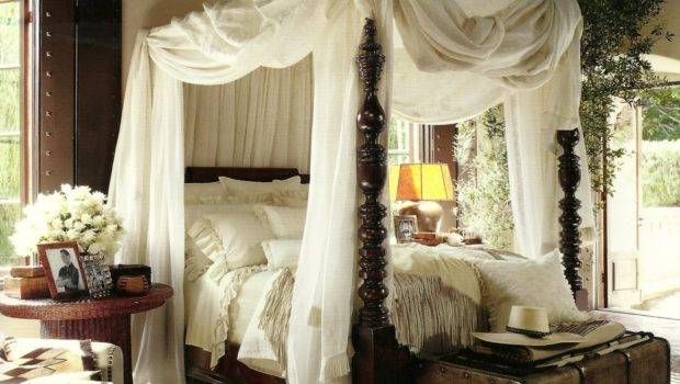 Canopy Fabric Bed Solid Wooden Diy