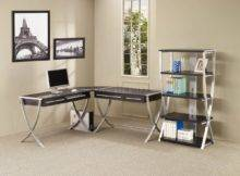 Cappuccino Silver Tone Modern Home Office Desk Options