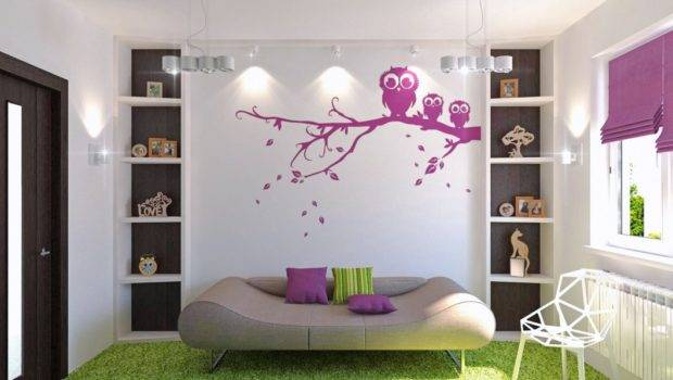 Carpet Flooring White Wall Paint Tracking Lamps Teen Girl Room