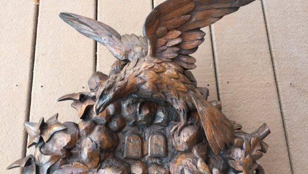 Carved Shelf Cuckoo Quail Clock Reatoration Black Forest Clocks