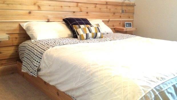 Cedar Planked Headboard Wall Guest Room Simply Swider