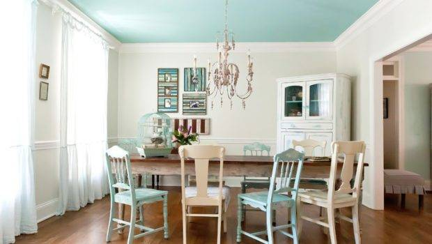 Ceiling Painted Pretty Neutral Can Drastically Brighten Small