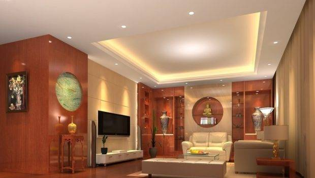 Ceiling Wooden Wall Design Living Room House