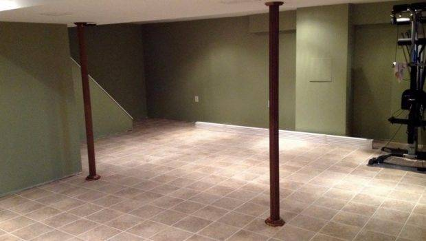 Ceramic Tile Around Basement Floor Drain Tiles Flooring