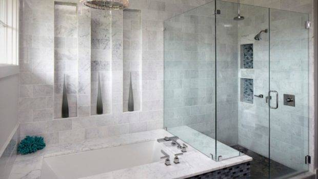 Ceramic Tile Patterns Showers Small Bathroom Subway Glass