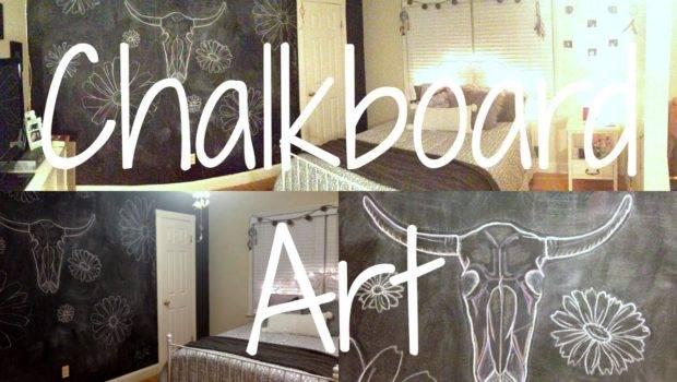 Chalkboard Wall Art Bedroom Decor Youtube