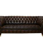 Chesterfield Balmoral Leather Sofa Antique Brown
