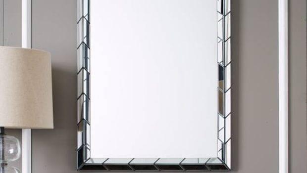 Chevron Tile Wall Mirror West Elm