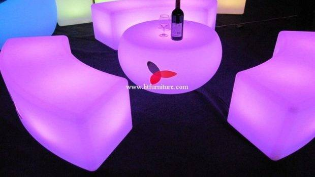 China Illuminated Furniture Curved Benches Glowing