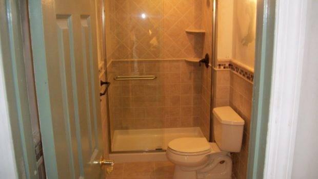 Choice Small Bathroom Tile Ideas Brown Slate Tiles Glass Shower Bath