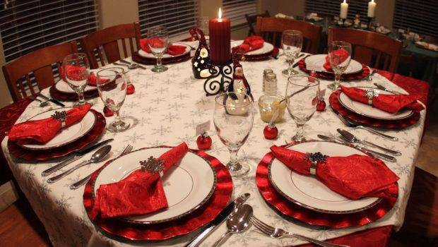 Christmas Dinner Table Decorations Minimal Interior Design Ideas