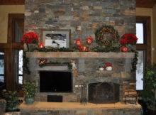 Christmas Fireplace Mantel Celebrating Style Home