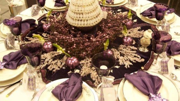 Christmas Purple Tree Decorations