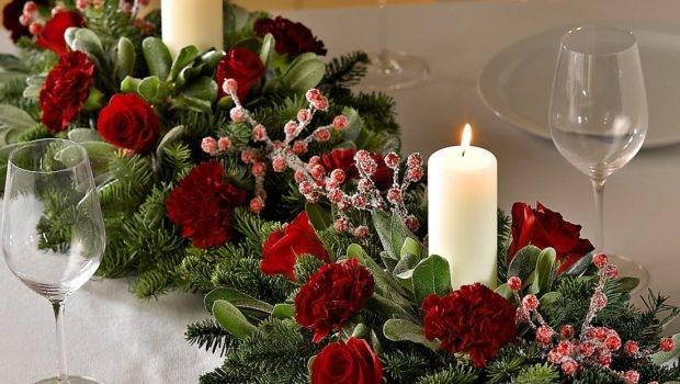 Christmas Table Decoration Christ Church Colne