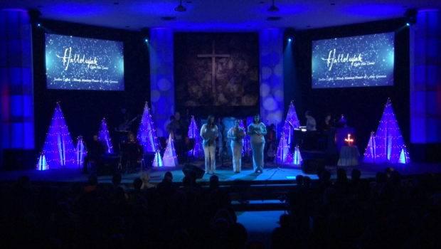 Christmas Tri Church Stage Design Ideas