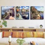 City Scenery Cheap Modern Oil Painting Unframed Wall