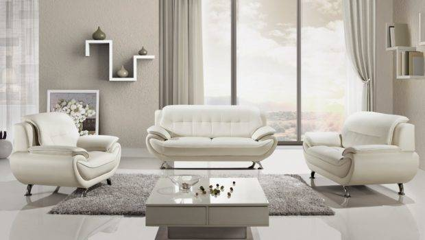 Clean White Leather Sofa Whole Home Furniture