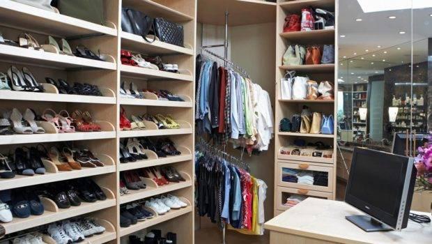 Closet Design Walk Organized Shoe Compartments
