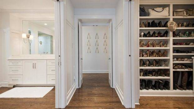 Closet Sliding Pocket Doors Floor Ceiling Bag Shelves Shoe