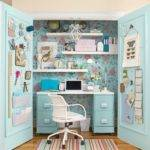 Closets Turned Into Space Saving Office Nooks Interior Design