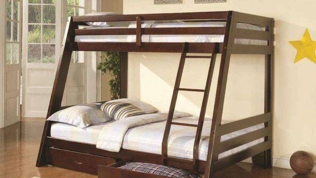 Coaster Bunks Twin Over Bunk Bed Two Storage Drawers