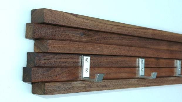 Coat Rack Hook Walnut Modern Key Hat Minimalist Wall Modbox