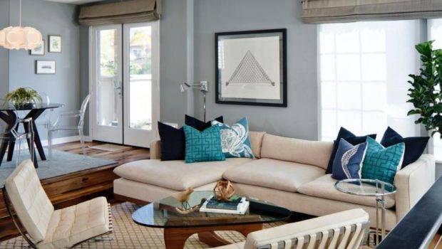 Color Beige Shaped Sofa Minimalist Noguchi Coffee Table