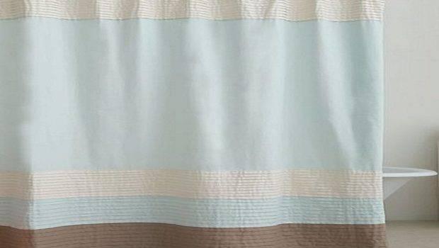 Color Block Fabric Shower Curtain Bathroom Curtains Hookless