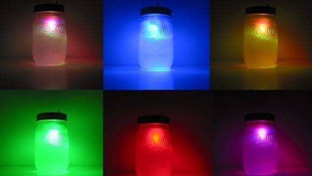 Color Changing Rainbow Mason Jar Night Light Geekgear Etsy