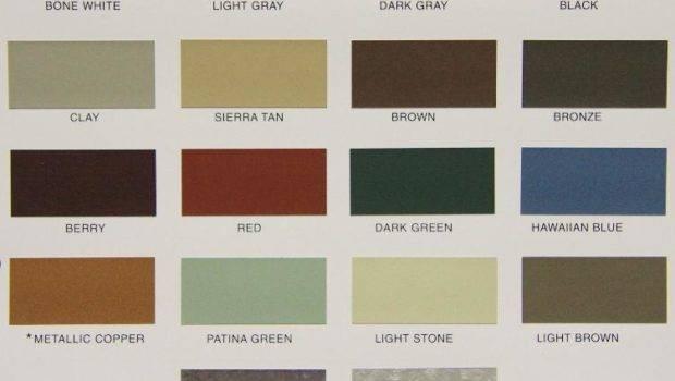 Color Options Metal Siding