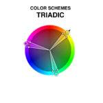 Color Scheme Uses Three Colors Equally Spaced Around Wheel