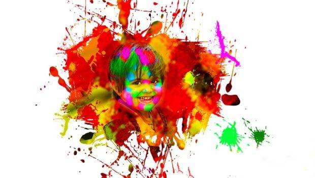 Color Splatter Effect Photoshop Holi Special Youtube