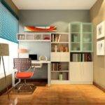 Color Study Room Wall Bookcase House