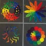 Color Wheel Designs Art Paper Scissors Glue Creative